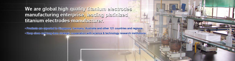 Platinized Anode Titanium Desalination plating Rhodium and Palladium